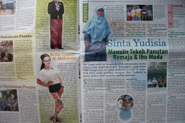 Sinta Yudisia di tabloid NOVA no.1263/XXV 7-13 Mei 2012