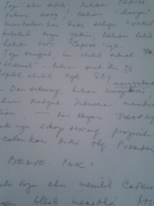Surat utk Prabowo