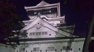 Siluette Kastil di malam hari