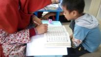 Feby dan Shabran belajar Iqra