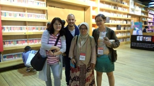 Korean writer, Prabda, Sinta, Sandra