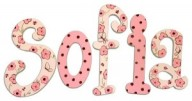 sofia pink polkadot