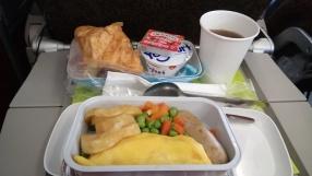 sarapan di pessawat