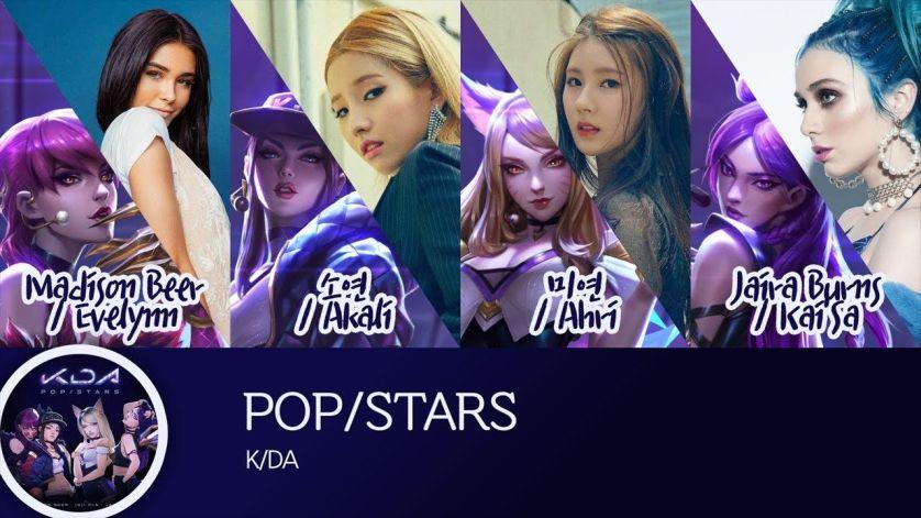 kda popstar and singers